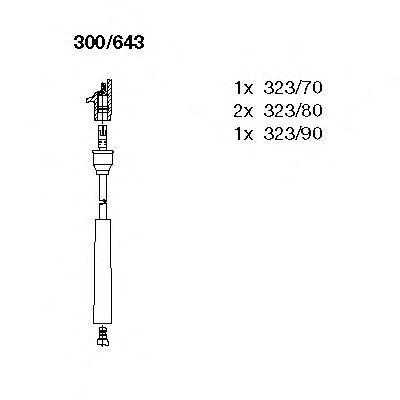Комплект проводов зажигания BREMI 300643