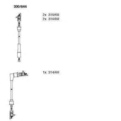 Комплект проводов зажигания BREMI 300644