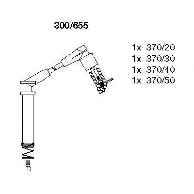 Комплект проводов зажигания BREMI 300655