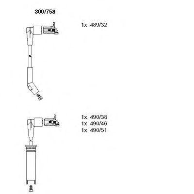 Провода высоковольтные комплект BREMI 300/758