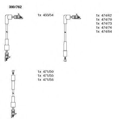 Комплект проводов зажигания BREMI 300762