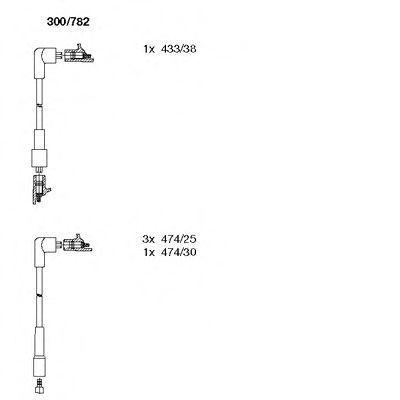 Комплект проводов зажигания BREMI 300782
