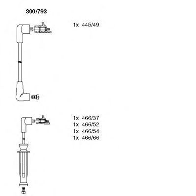 Комплект проводов зажигания BREMI 300793