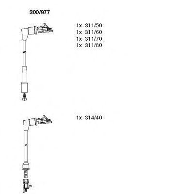 Комплект проводов зажигания BREMI 300977