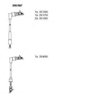Комплект проводов зажигания BREMI 300987