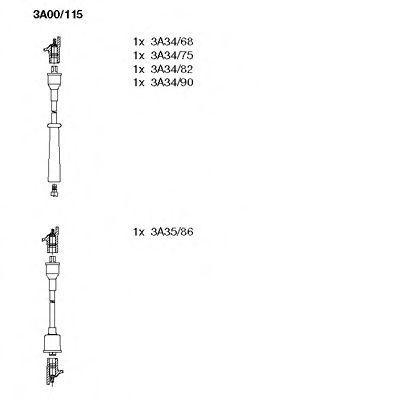 Комплект проводов зажигания BREMI 3A00115