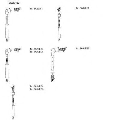 Комплект проводов зажигания BREMI 3A00132
