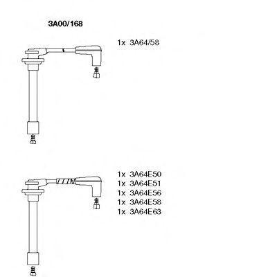Комплект проводов зажигания BREMI 3A00168