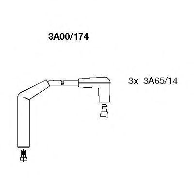 Провода высоковольтные комплект BREMI 3A00/174