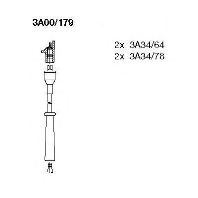 Комплект проводов зажигания BREMI 3A00179