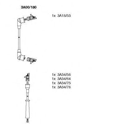 Комплект проводов зажигания BREMI 3A00180