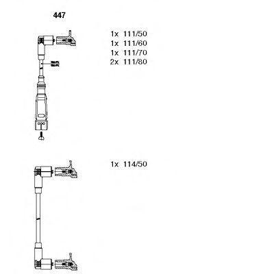 Провода высоковольтные комплект BREMI 447