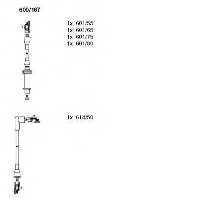 Комплект проводов зажигания BREMI 600167