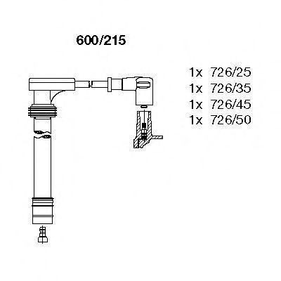 Провода высоковольтные комплект BREMI 600215