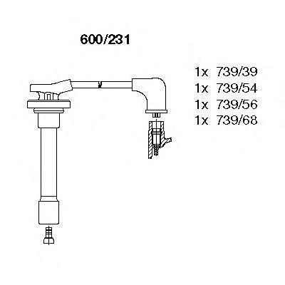 Комплект проводов зажигания BREMI 600231