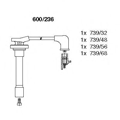 Комплект проводов зажигания BREMI 600236