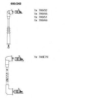 Комплект проводов зажигания BREMI 600243