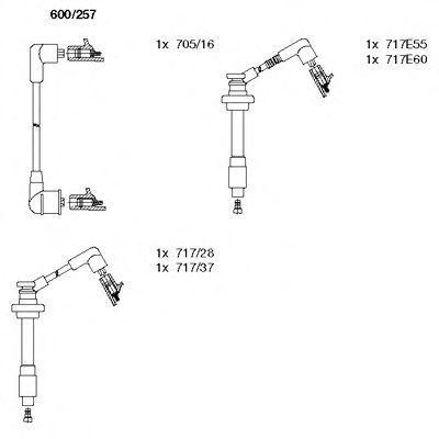 Комплект проводов зажигания BREMI 600257
