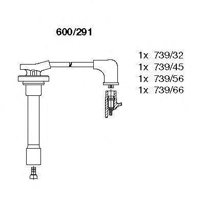 Комплект проводов зажигания BREMI 600291