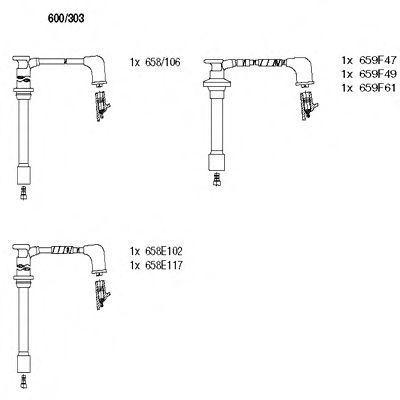 Комплект проводов зажигания BREMI 600303