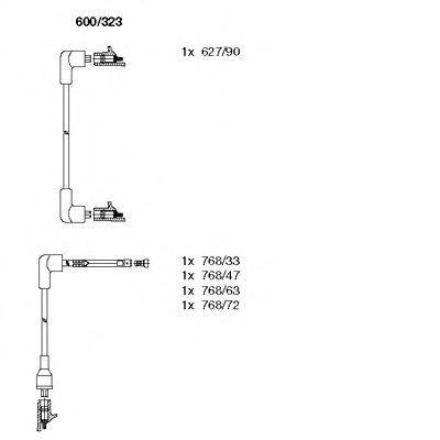 Комплект проводов зажигания BREMI 600323