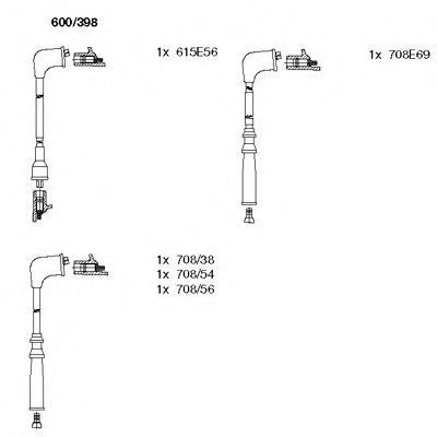 Комплект проводов зажигания BREMI 600398