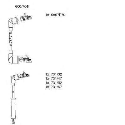 Комплект проводов зажигания BREMI 600408