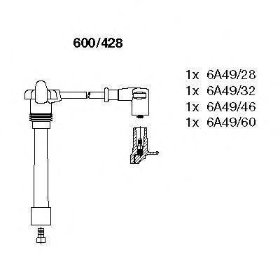 Комплект проводов зажигания BREMI 600428