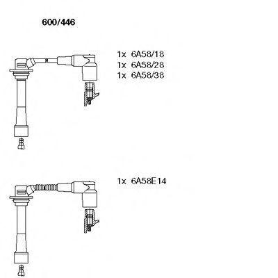 Комплект проводов зажигания BREMI 600446