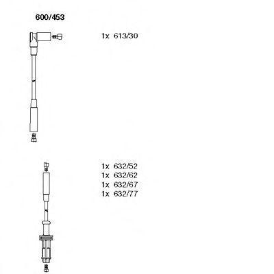 Комплект проводов зажигания BREMI 600453