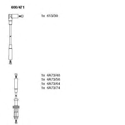 Комплект проводов зажигания BREMI 600471