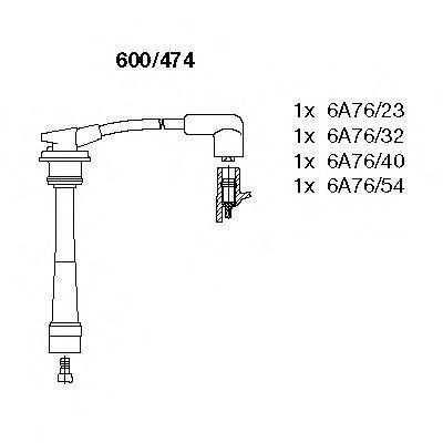 Комплект проводов зажигания BREMI 600474