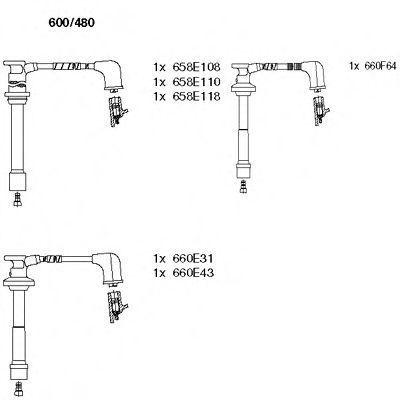 Комплект проводов зажигания BREMI 600480