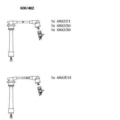 Комплект проводов зажигания BREMI 600482