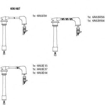 Комплект проводов зажигания BREMI 600487