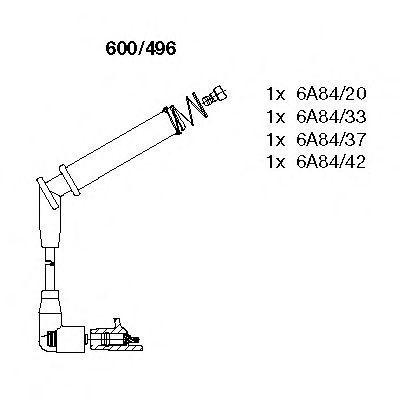 Провода высоковольтные комплект BREMI 600496