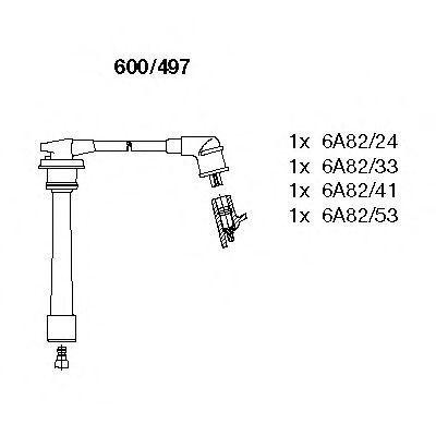 Комплект проводов зажигания BREMI 600497