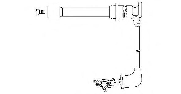Провод зажигания BREMI 658106