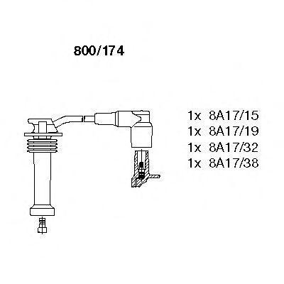 Провода высоковольтные комплект BREMI 800/174