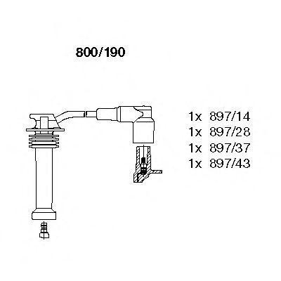 Провода высоковольтные комплект BREMI 800/190