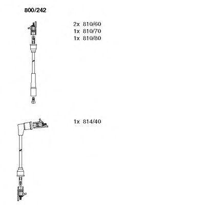 Комплект проводов зажигания BREMI 800242