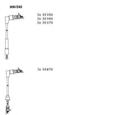 Комплект проводов зажигания BREMI 800243