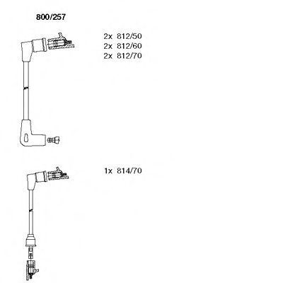 Комплект проводов зажигания BREMI 800257