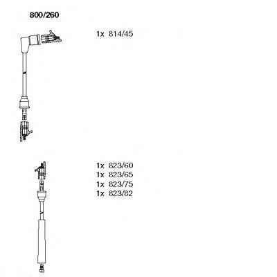 Комплект проводов зажигания BREMI 800260