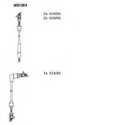Комплект проводов зажигания BREMI 800264