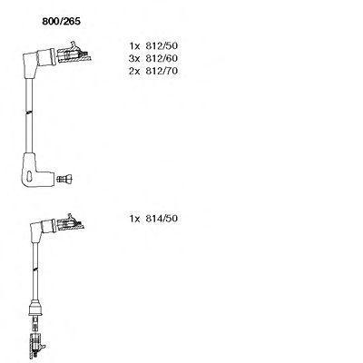 Комплект проводов зажигания BREMI 800265