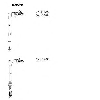 Комплект проводов зажигания BREMI 800279