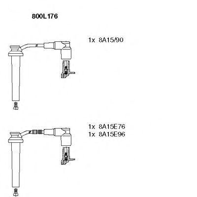 Провода высоковольтные комплект BREMI 800L176