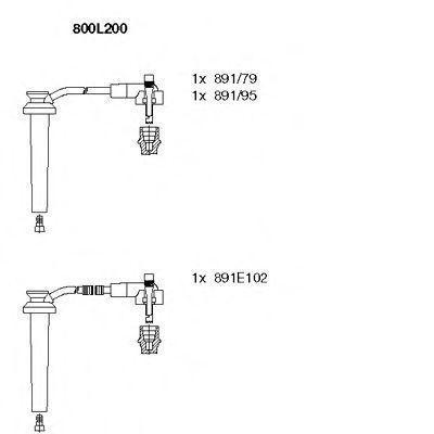Провода высоковольтные комплект BREMI 800L/200