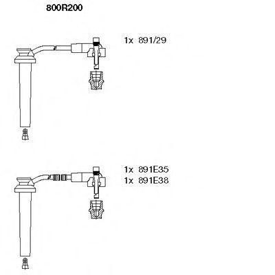 Провода высоковольтные комплект BREMI 800R/200
